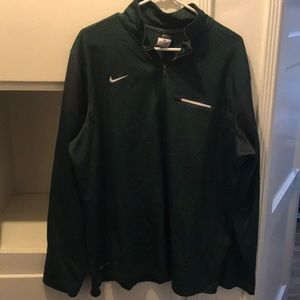 GREEN NIKE DRI-FIT LONG-SLEEVE